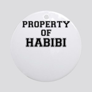 Property of HABIBI Round Ornament