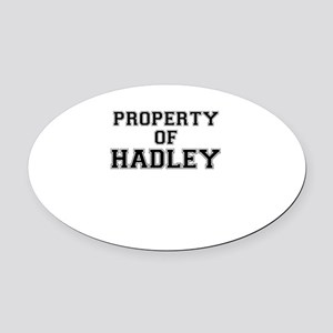 Property of HADLEY Oval Car Magnet