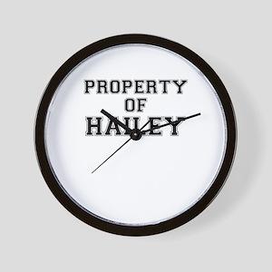 Property of HAILEY Wall Clock