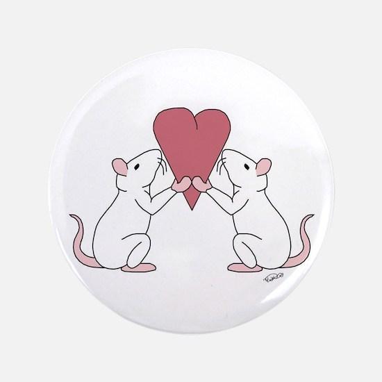 "Valentines Rats 3.5"" Button"