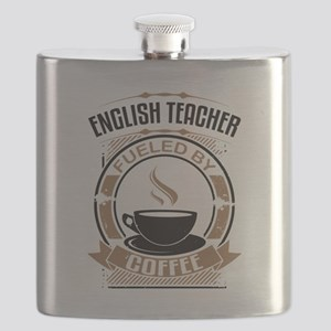 English Teacher Fueled By Coffee Flask