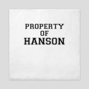 Property of HANSON Queen Duvet