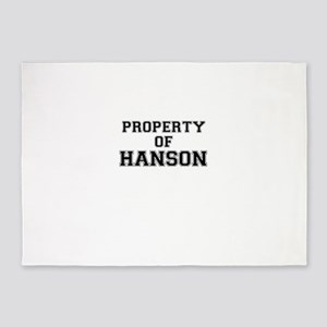 Property of HANSON 5'x7'Area Rug