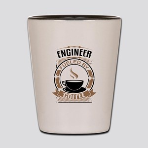Engineer Fueled By Coffee Shot Glass