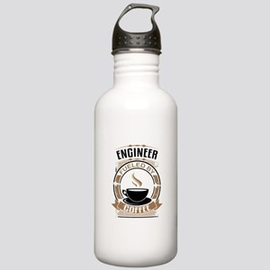 Engineer Fueled By Coffee Water Bottle
