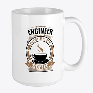 Engineer Fueled By Coffee Mugs