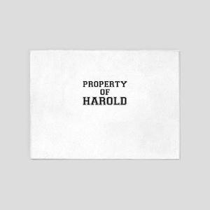 Property of HAROLD 5'x7'Area Rug