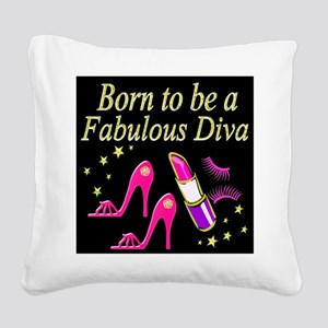 TRENDY DIVA Square Canvas Pillow