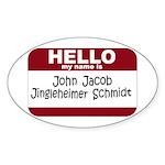 Jingleheimer Schmidt Oval Sticker