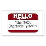 Jingleheimer Schmidt Rectangle Sticker