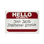 Jingleheimer Schmidt Rectangle Magnet (10 pack)