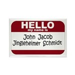 Jingleheimer Schmidt Rectangle Magnet