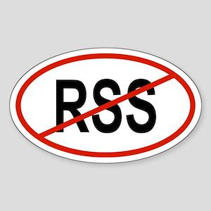 RSS Oval Sticker