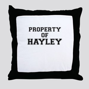 Property of HAYLEY Throw Pillow