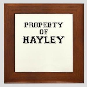 Property of HAYLEY Framed Tile