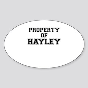 Property of HAYLEY Sticker
