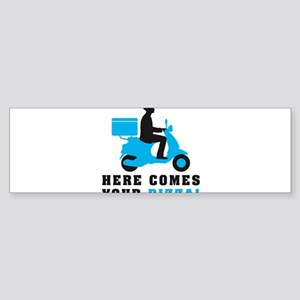Scooter Pizza Supplier 07-2016 Bumper Sticker
