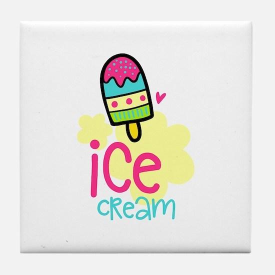 Ice Cream Desserts Tile Coaster