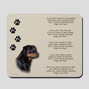 Rottweiler & Verse Mousepad
