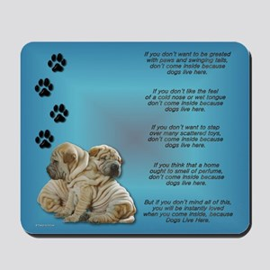 Shar Pei Puppies Mousepad