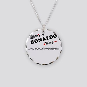 RONALDO thing, you wouldn't Necklace Circle Charm