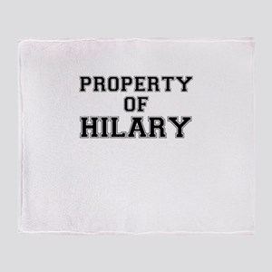 Property of HILARY Throw Blanket