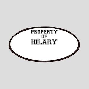 Property of HILARY Patch