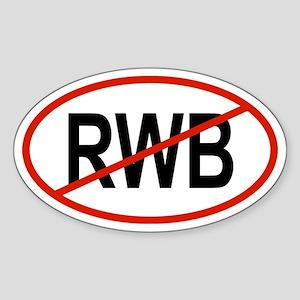 RWB Oval Sticker