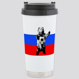 Russian Football Flag Travel Mug