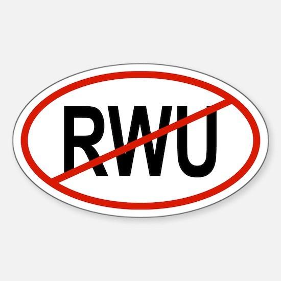 RWU Oval Decal