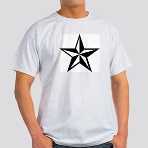 White Punk Nautical Star Ash Grey T-Shirt