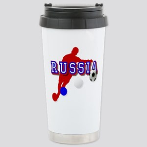 Russia Soccer Player Stainless Steel Travel Mug