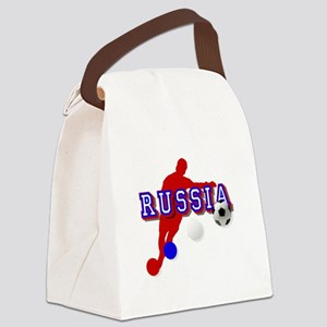 Russia Soccer Player Canvas Lunch Bag