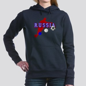 Russia Soccer Player Women's Hooded Sweatshirt