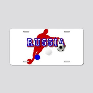 Russia Soccer Player Aluminum License Plate
