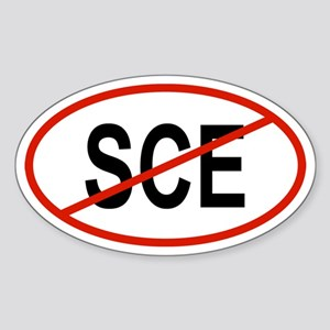 SCE Oval Sticker