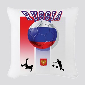 Russian Football Woven Throw Pillow