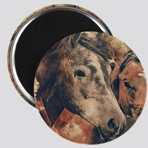 Horses Artistic Watercolor Painting Decora Magnets