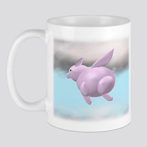 Flying Pig Graphic Mug