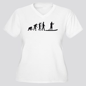 Evolution Stand Up Paddling Plus Size T-Shirt