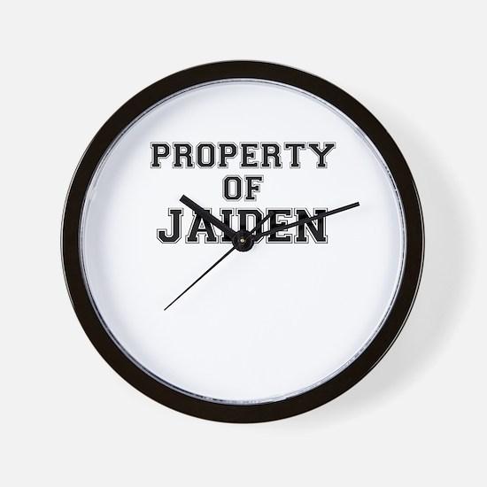 Property of JAIDEN Wall Clock
