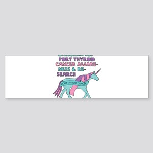 Unicorns Support Thyroid Cancer Awa Bumper Sticker