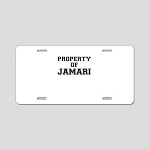 Property of JAMARI Aluminum License Plate