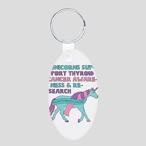 Unicorns Support Thyroid Cancer Awarenes Keychains