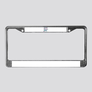 Unicorns Support Thyroid Cance License Plate Frame