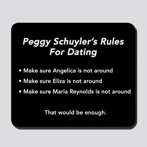 Peggy Schuyler's Rules Mousepad