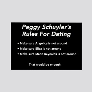 Peggy Schuyler's Rules Rectangle Magnet Magnet
