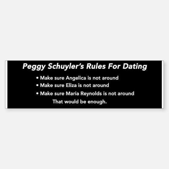 Peggy Schuyler's Rules (bumper) Bumper Bumper Bumper Sticker