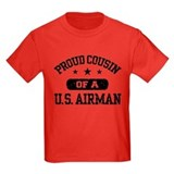 Proud youth air force cousin Kids T-shirts (Dark)