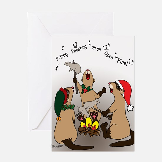 Black-Footed Ferret Holiday Greeting Card